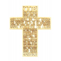 Laser Cut 'The Lords Prayer' Wording inside a Cross