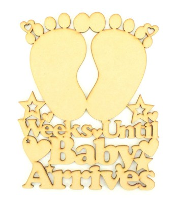 Laser Cut 'Weeks until Baby Arrives' Chalkboard Countdown Sign