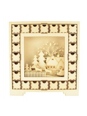Advent Calendar Square With Centre Scene Assembly Instructions