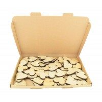 SPECIAL OFFER - Bargain Box of Laser cut Plain Love Hearts - 6mm MDF