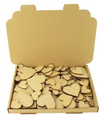 Bargain Box of Mixed Laser cut Plain Love Hearts- 3mm