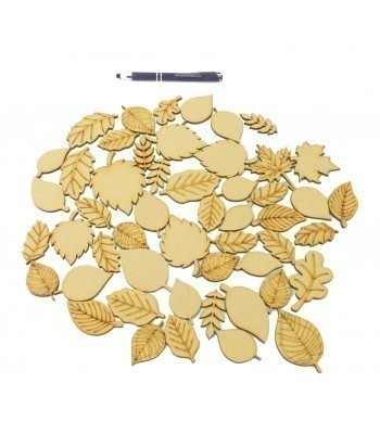 Bargain Box of Mixed Laser cut Leaf Themed Shapes
