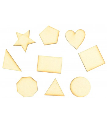 Laser Cut Basic Shapes Pack of 9 Shapes