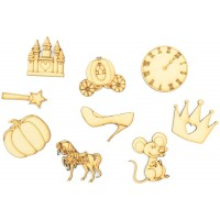 Laser Cut Princess Fairytale Themed Pack of 9 Shapes