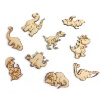 Laser Cut Dinosaur Themed Pack of 9 Shapes