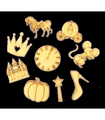 Laser Cut Fairytale Themed Pack of 9 Shapes