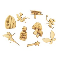 Laser Cut Fairy Themed Pack of 9 Shapes
