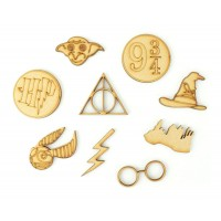 Laser Cut Wizard Themed Pack of 9 Shapes