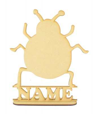 Laser Cut Personalised Bug Shape on a Stand