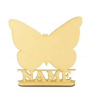 Laser Cut Personalised Butterfly Shape on a Stand