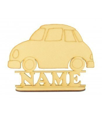 Laser Cut Personalised Car Shape on a Stand