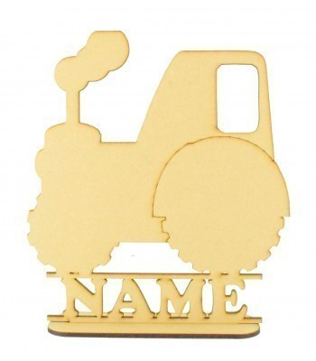 Laser Cut Personalised Tractor Shape on a Stand
