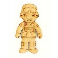 Laser Cut Etched Army Man Shape