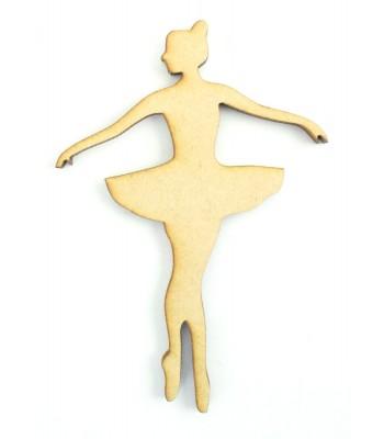Laser Cut Ballet Dancer Shape