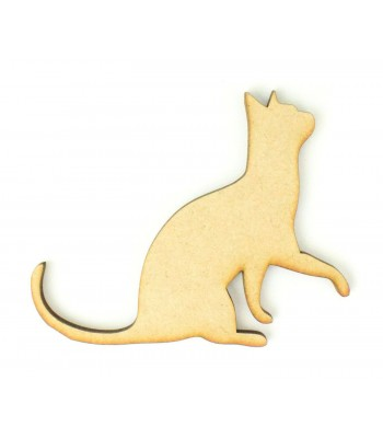 Laser Cut Begging Cat Shape