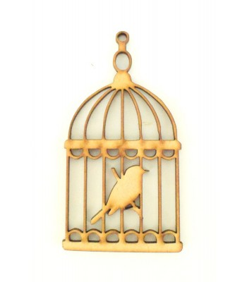 Laser Cut Bird Cage Shape