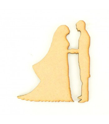 Laser Cut Wedding Couple Exchanging Vows Shape