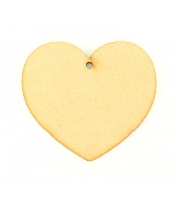 Laser Cut Plain Heart Shape with Hole - BULK BUY PACK 100