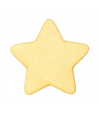 Laser Cut Plain Star Shape - BULK BUY PACK OF 90