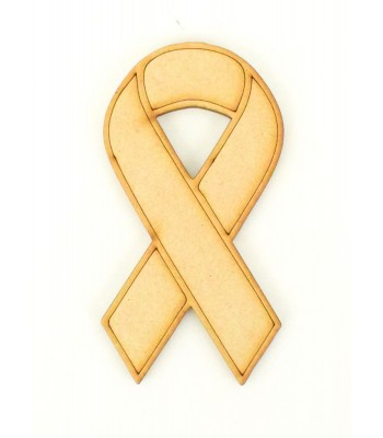 Laser Cut Cancer Ribbon - Charity Ribbon Shape