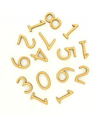 Laser Cut 3D Clock Numbers 1-12