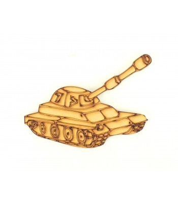 Laser Cut Army Tank Shape