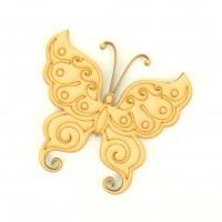 Laser Cut Etched Fancy Butterfly Shape