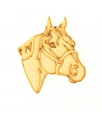 Laser Cut Etched Horse Head Shape