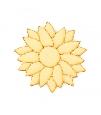 Laser Cut Etched Sunflower Shape