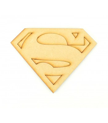 Laser Cut Superhero Logo Shape