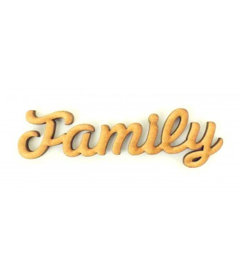 Laser Cut Mini Family word for Box Frame Tree Kits