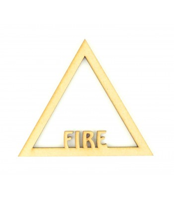 Laser Cut Fire Elements Symbol Shape