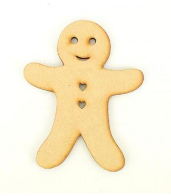 Laser Cut Gingerbread Man Shape