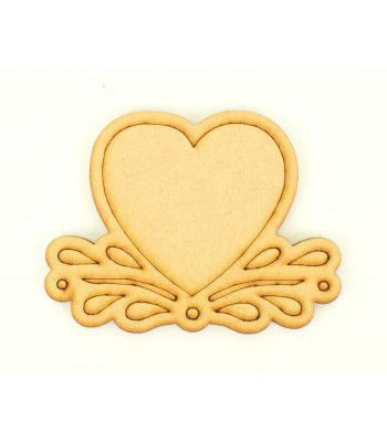 Laser Cut Etched Heart Shape