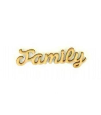Laser Cut Mini Family word for Box Frame Tree Kits