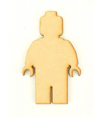 Laser Cut Plain Lego man Shape