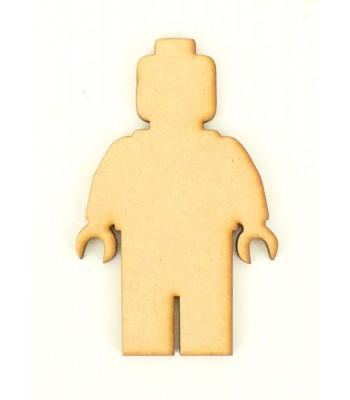 Laser Cut Plain Lego man Shape