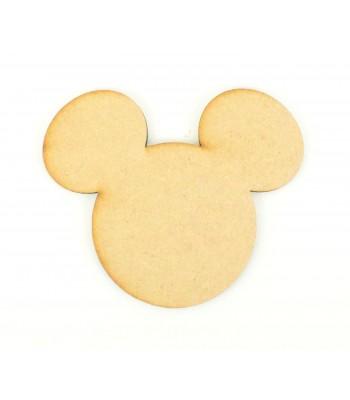 Laser Cut Plain Mouse Head Shape