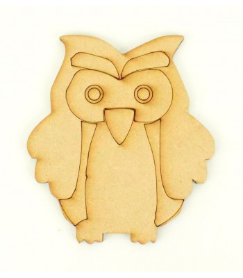 Laser Cut Etched Owl Shape