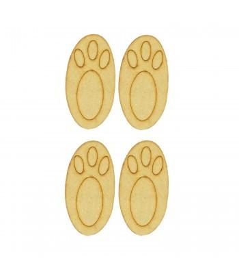 Laser Cut 3D Rabbit Feet - 2 PAIRS
