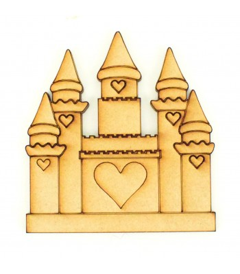 Laser Cut Etched Princess Castle Shape