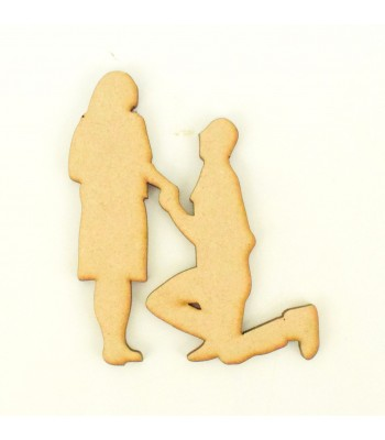 Laser Cut Proposing Couple Shape