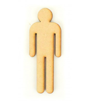 Laser Cut Simple Man Shape