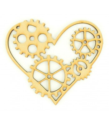 Laser cut Steampunk Heart