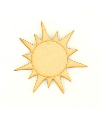 Laser Cut Etched Sun Shape