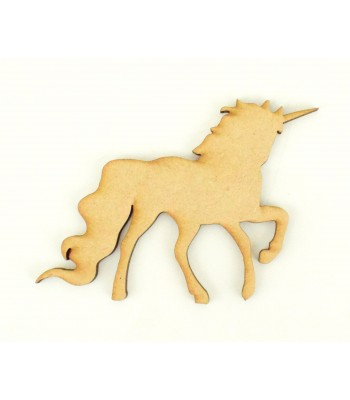 Laser Cut Plain Unicorn Shape