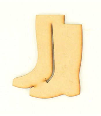 Laser Cut Plain Wellington Boots Shape