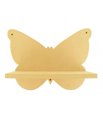 Routered 18mm MDF Quality Flat packed Butterfly Shelf