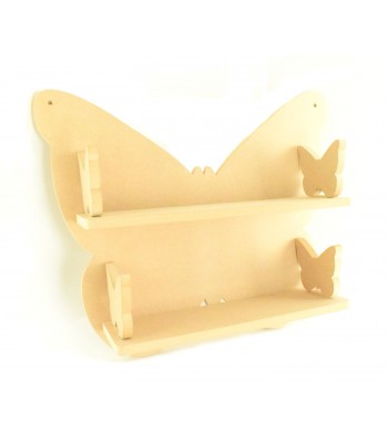 Routered 18mm MDF Quality Flat packed Butterfly Large DVD Shelf