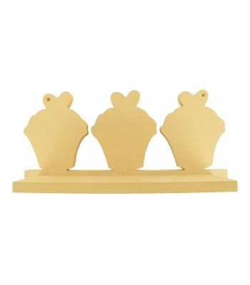Routered 18mm MDF Quality Flat packed Cupcakes Shelf